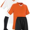 Orange and White Reversible Sublimation Soccer Uniform