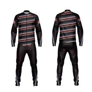 Black Sublimation Tracksuits with Front and Back Trimming AFYM:1036