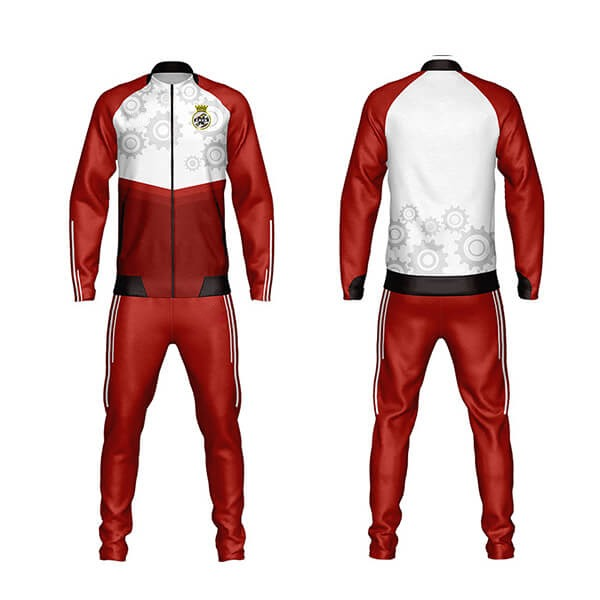 Red Sublimation Tracksuit with Rings Art AFYM:1043