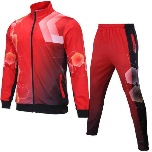 Red with Multi Shaded Sublimation Tracksuit AFYM:1040