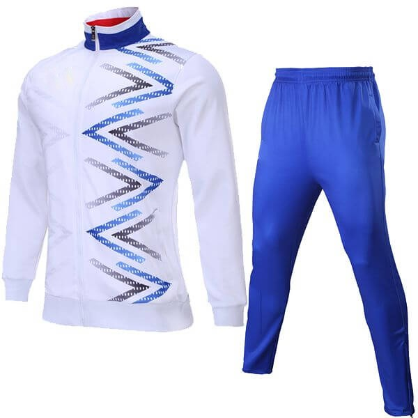 White with Front Art Sublimation Tracksuit AFYM:1044