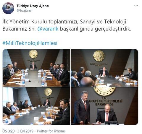 Türkiye Uzay Ajansı'ndan heyecanlandıran paylaşım 9 Şubat tarihi verildi…