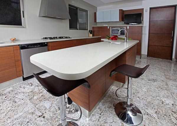 кварцевая столешница для кухни