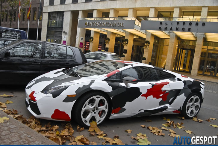 Strange Sighting Lamborghini Gallardo Met Camo Wrap