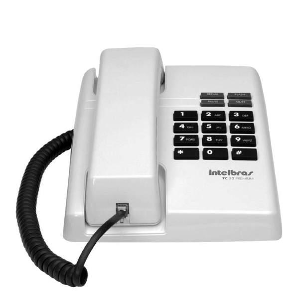 TC 50 Premium - Telefone com fio (branco ártico)