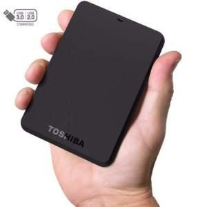 Hdd Externo Portatil Toshiba 1 Tb Canvio Basics Preto - Hdtb410xk3aa