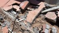 +صور:انهيار سور مؤسسة على رؤوس عمال يشتغلون بورش لبناء مركز الوقاية المدنية باشتوكة،يرسل عاملين الى المستعجلات في حالة خطيرة + (صور)