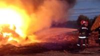 أكادير: إندلاع النيران في ضيعة فلاحية، وسماء المنطقة يتحول إلى سحابة داكنة