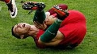 لحظة بكاء كريستيانو رونالدو في نهائي يورو 2016