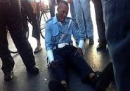 خطير:مختل عقليا يعتدي على شرطي المرور بشفرة الحلاقة