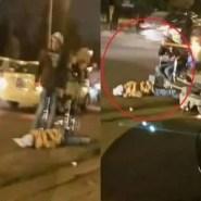 مؤثر بالصورة:قتل شقيقته في الشارع العام وجلس إلى جانب جثتها من شدة الندم
