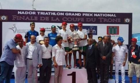 """جمعية أمل إنزكان للسباحة تحرز لقب كأس العرش في رياضة """"ترياتلون"""""""
