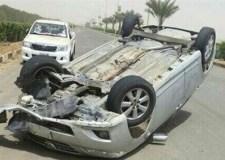 عاجل: قتلى و إصابات في حادث انقلاب سيارة لمشجعين رياضيين