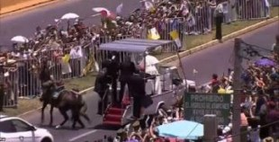 شاهد ماذا فعل هذا الحصان عند مرور موكب البابا