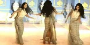الرقص المثير لدنيا بطمة الذي جعل زوجها محمد الترك يغضب عليها !!