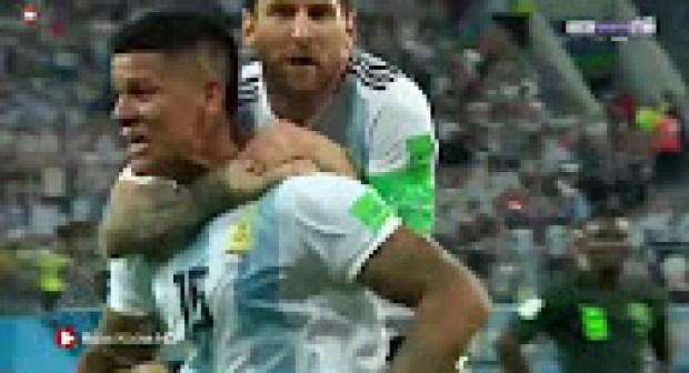 (+فيديو الأهداف)ملخص مباراة الارجنتين ونيجيريا 2-1