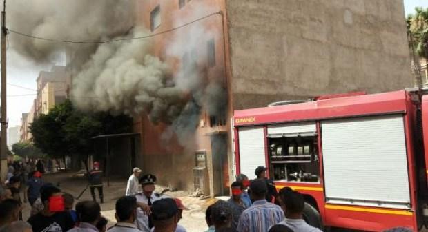 عاجل:النيران تلتهم جنبات مستودع بلدي باشتوكة، وتهدد المنازل المجاورة