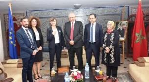 سفيرة الاتحاد الاوروبي بالمغرب في ضيافة رئيس المجلس البلدي لأكادير.