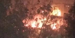 فيديو الحريق المهول الذي اندلع بحي الشرف بأكادير