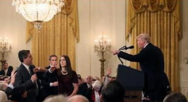 شاهد: اشتباك في البيت الأبيض بين ترامب ومراسل CNN