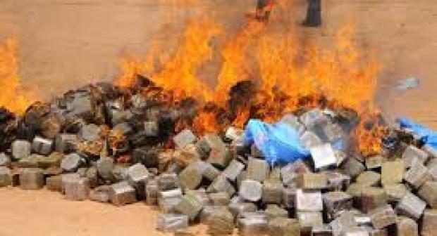 اشتوكة أيت باها: إحراق و إتلاف كميات هامة من المخدرات المحجوزة بمعمل للإسمنت