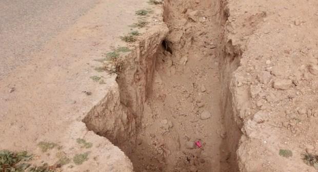 """أولاد تايمة: قناة للصرف الصحي تهدد حياة الساكنة بدوار سيدي بوموسى + """"صور"""""""