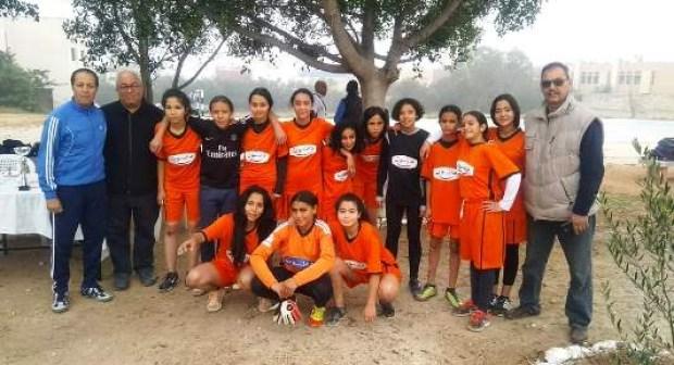 فريق الثانوية الاعدادية سوس العالمة صغيرات لكرة القدم بأگادير يتوج بطلا للإقليم.