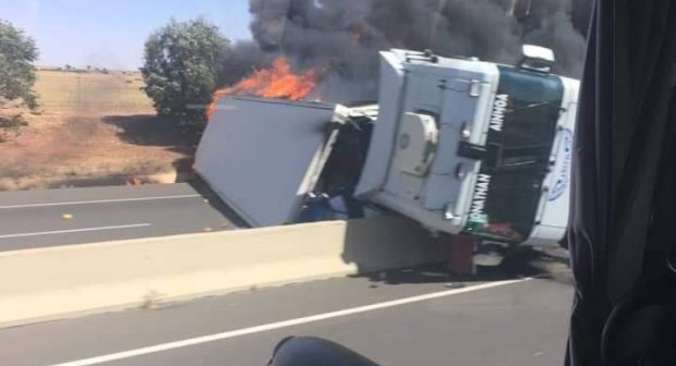+صورة: الطريق السيار مراكش الدار البيضاء يهتز من جديد على وقع حادثة سير خطيرة