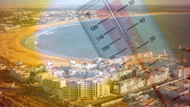 درجات الحرارة المرتقبة غدا السبت بأكادير وباقي مدن المملكة