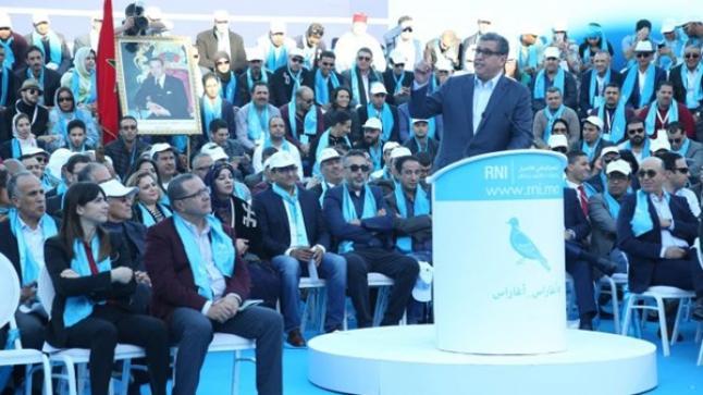 أخنوش يطلق من أكادير جولة تواصلية جديدة لتقديم برنامج حزب الحمامة