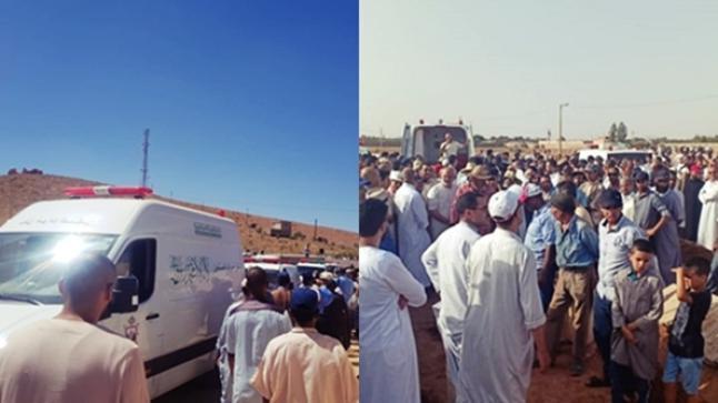 تارودانت: تشييع جثامين ضحايا فاجعة الحوز (صور)