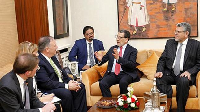 العثماني يتباحث بالرباط مع وزير الخارجية الأمريكي بومبيو