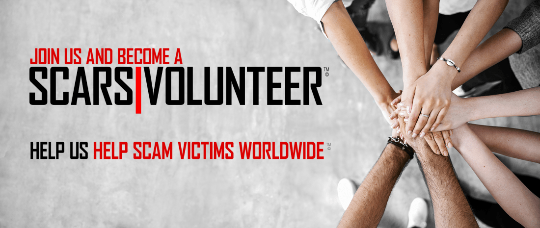 Become A SCARS Volunteer - Help Us Help other Scam Victims