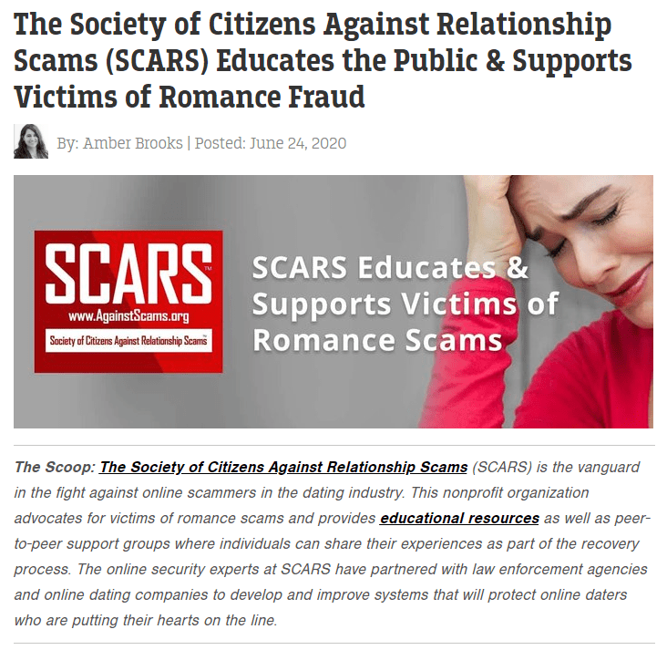The Dating News Article About SCARS