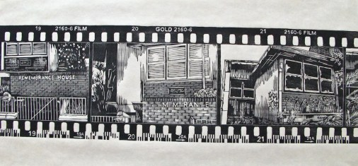 Title: Rememberance House. Size: 64cm x 21cm