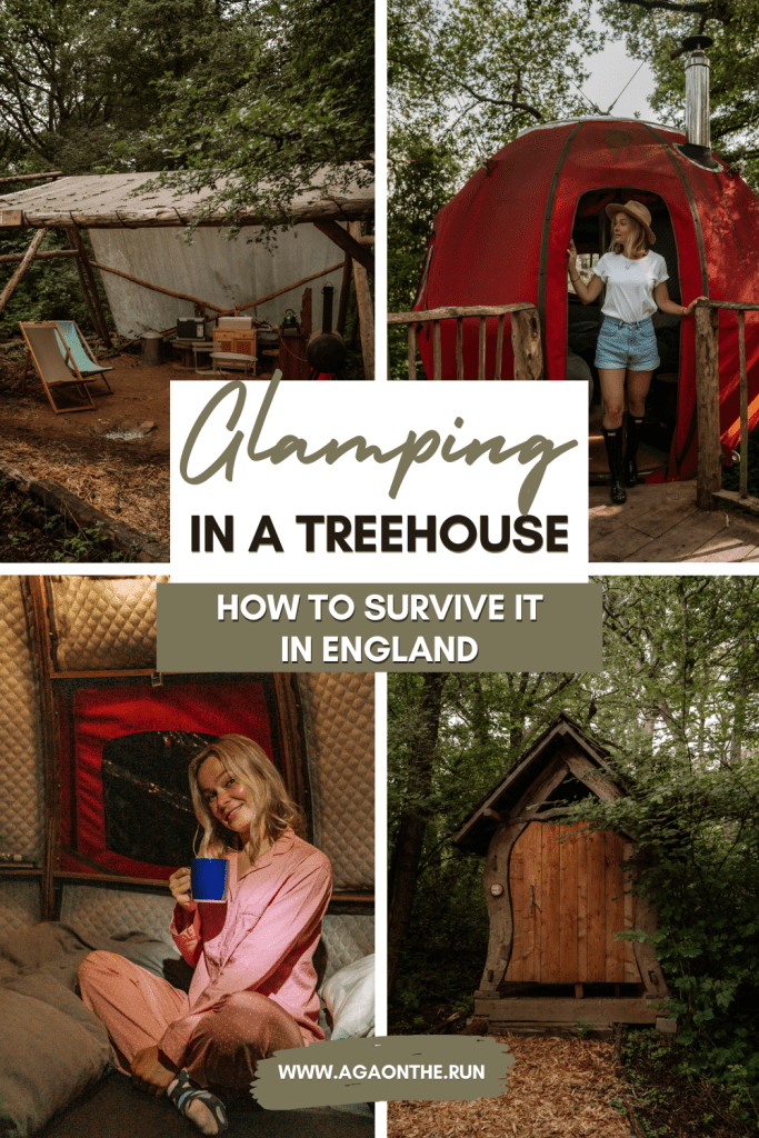 Glamping in a treehouse in England