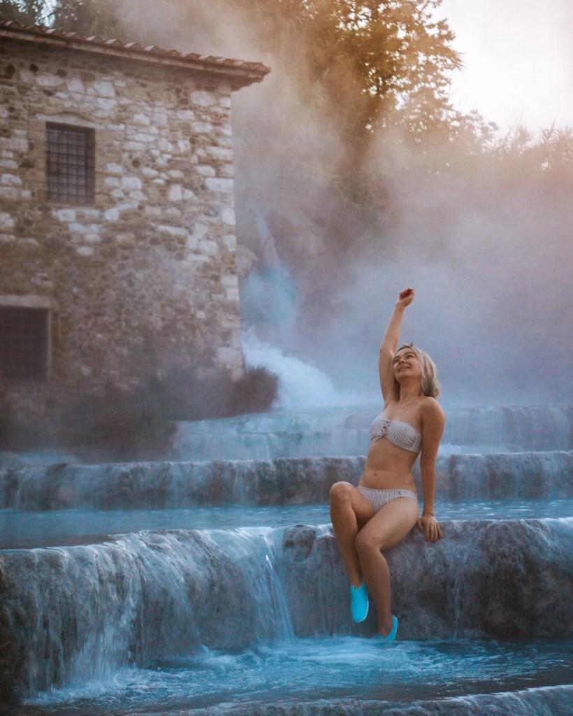 Cascate del Mulino pools in Saturnia, Tuscany