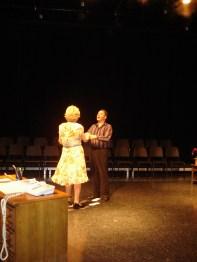 Joan Baker as Lily Harrison & Olin Meadows as Michael Minetti. Photo by Jeff Knoll.