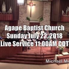 Agape Live – July 22, 2018