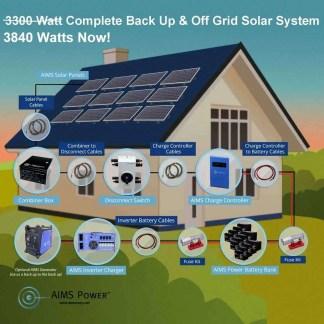 3840 watt Solar 12 Panel 12 Battery Kit