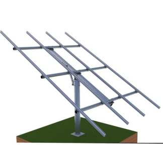 pole and rack mount for 6 solar panels