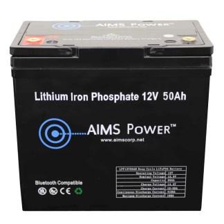 LFP12V50B Aims 50Ah Lithium Battery