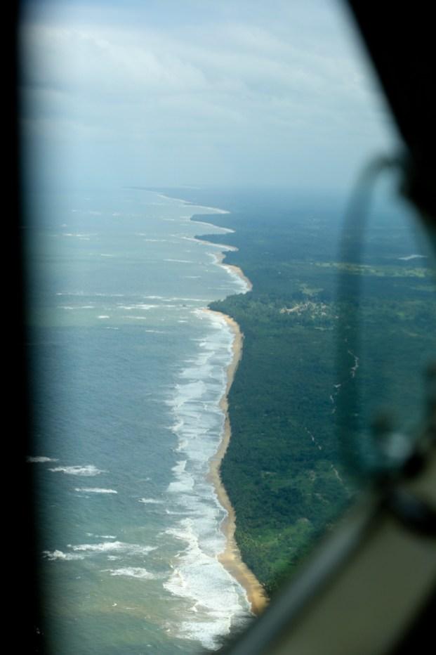 The beautiful coastline of Liberia