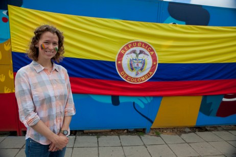 Cassie with the Colombian flag!