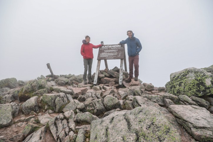 This is where our 2,190.9-mile hike began— on the top of Mt. Katahdin in Baxter State Park!