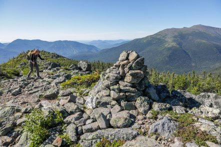 The rocky trail summiting Mt. Madison on our way over the Presidentials, including Mt. Washington.