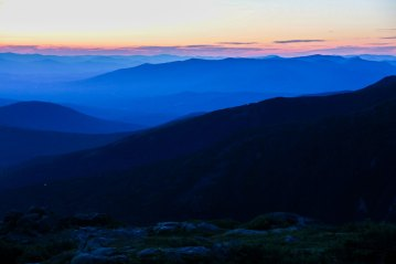 Sunset at Lakes of the Clouds Hut in the White Mountains.