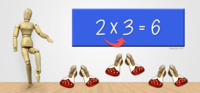 EJEMPLO multiplicación 2x3 tabla del 2