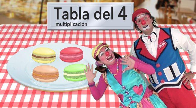 Tabla del 4: multiplicación