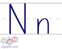 Escritura letra N